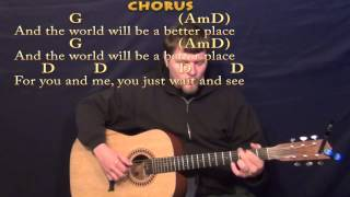 Put A Little Love In Your Heart - Fingerstyle Guitar Cover Lesson in G with Chords/Lyrics