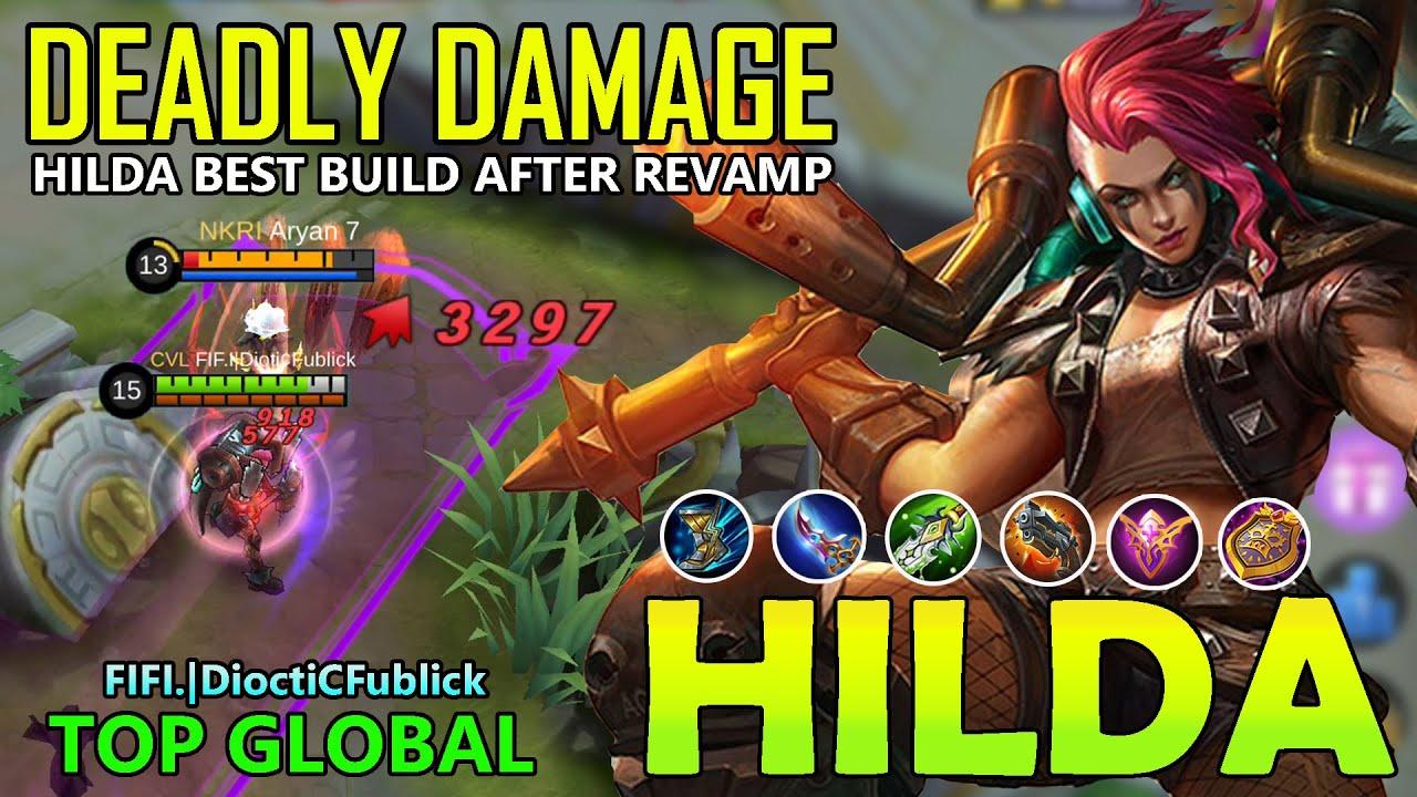 INSANE DAMAGE!!HILDA BEST BUILD 2020 TOP GLOBAL- HILDA MOBILE LEGENDS