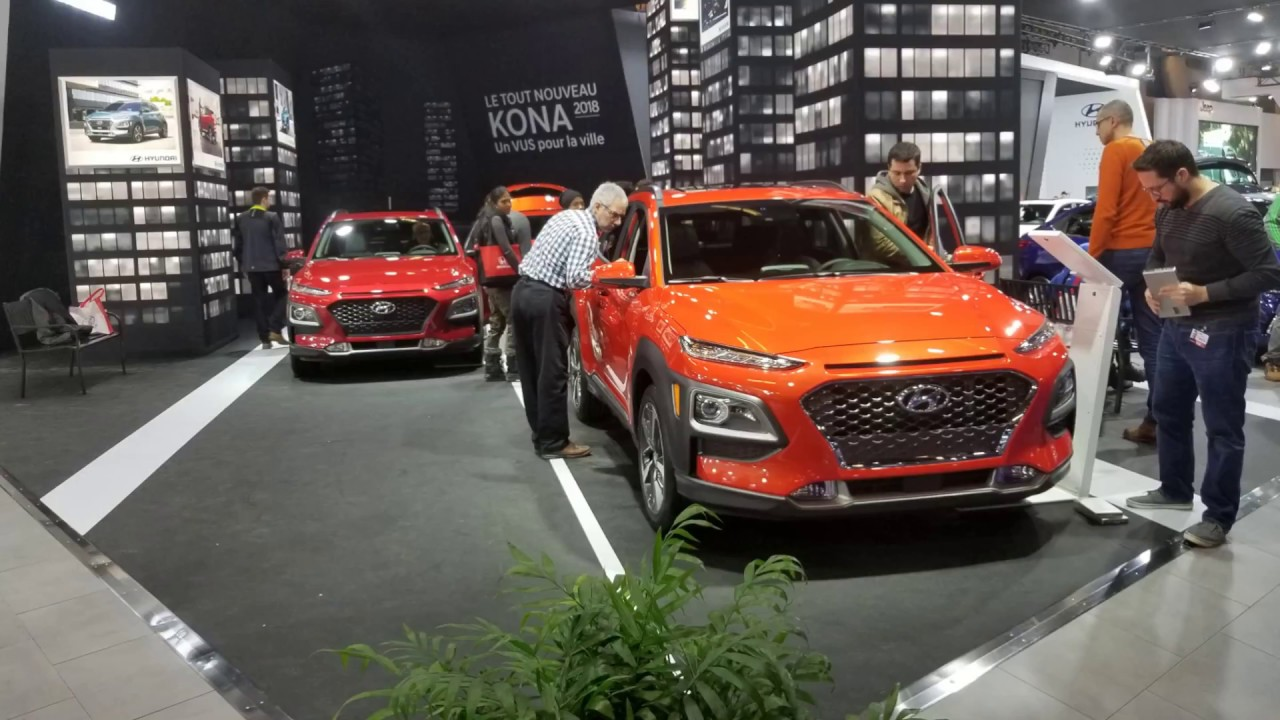 Salon De L Auto >> Hyundai Nouveau Kona 2018 Salon De L Auto Montreal