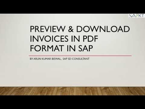 Download Invoice into PDF format in SAP