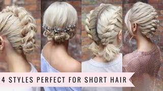 4 Ways to Style SHORT Hair by SweetHearts Hair💁🏼