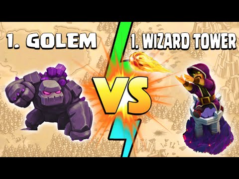 Clash of Clans - GOLEM VS WIZARD TOWER CLAN WAR! A True Tale of Clash Achievery?