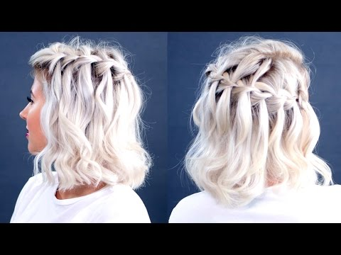 HOW TO: Waterfall Braid Short Hair Tutorial