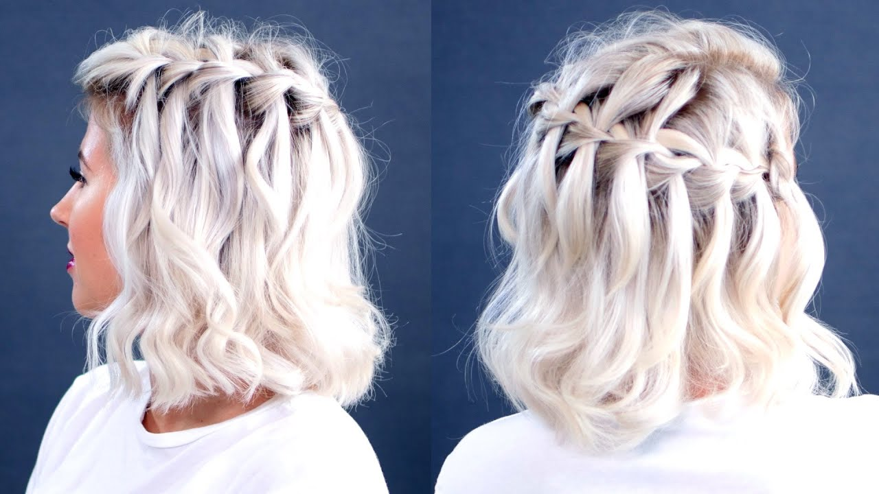 How To Waterfall Braid Short Hair Tutorial Milabu Youtube