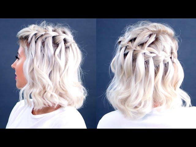 How To Waterfall Braid Short Hair Tutorial Milabu