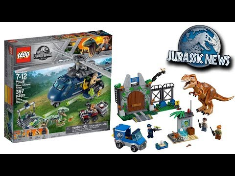 Jurassic World Fallen Kingdom LEGOS Revealed and More!!! Jurassic News