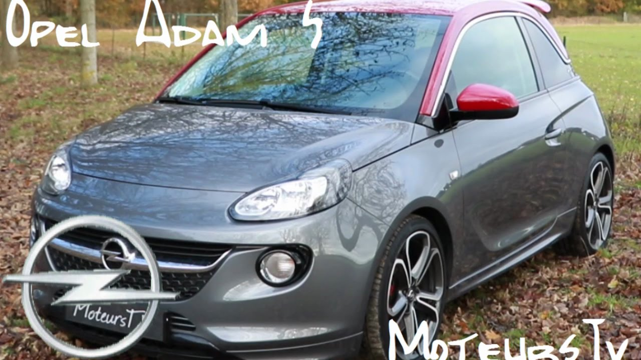 opel adam s turbo moteurstv fr youtube. Black Bedroom Furniture Sets. Home Design Ideas