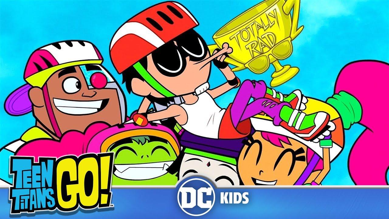 Teen Titans Go Rollerblade Wars Dc Kids Youtube