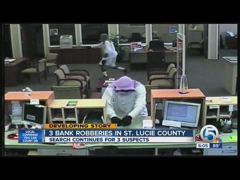 Thieves strike 3 St. Lucie Co. banks on Monday
