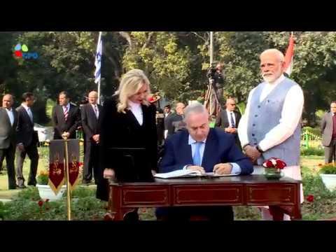 PM Netanyahu and Indian PM Modi Attend Ceremony to Rename Square in New Delhi in Honor of Haifa