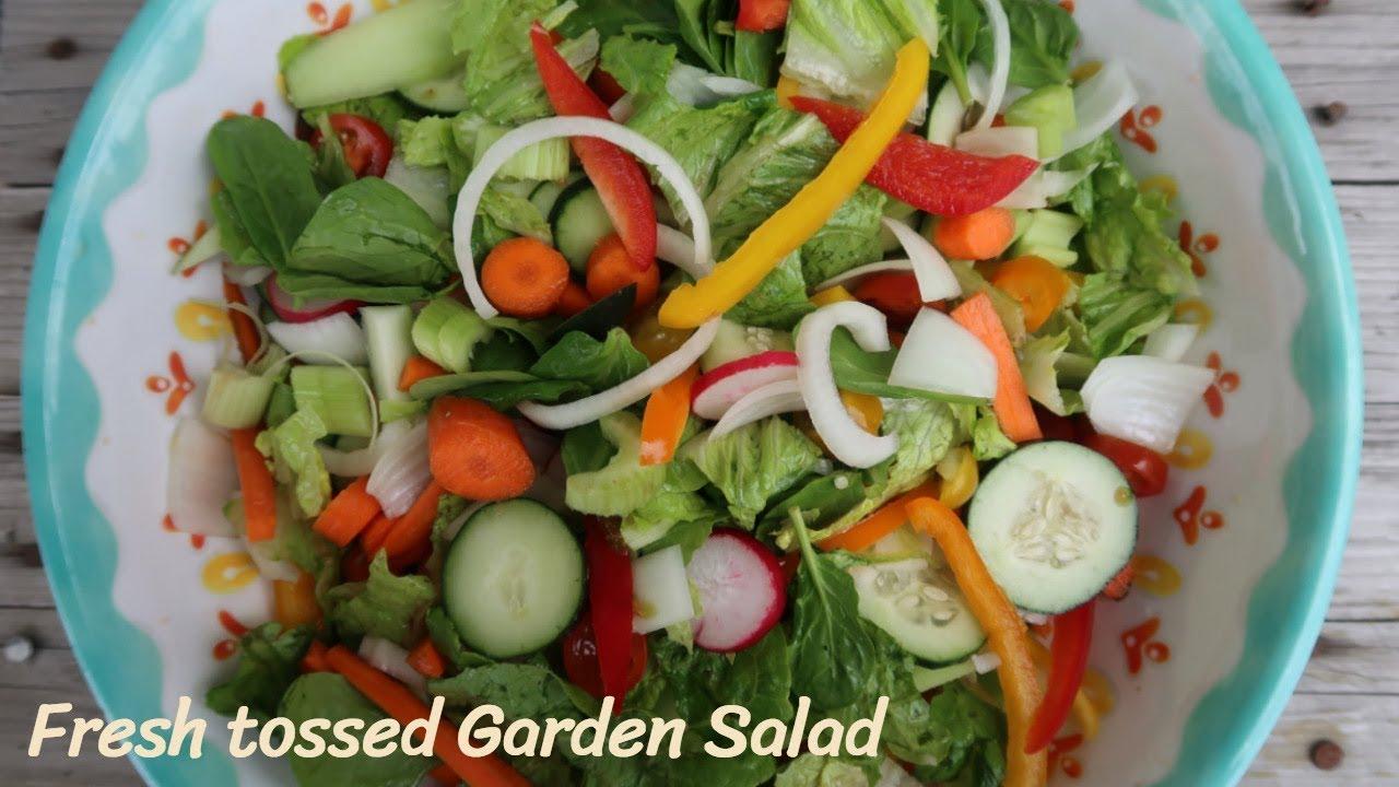 Fresh Tossed Garden Salad Hand Chopped Youtube