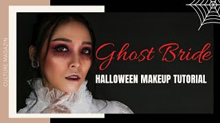 [Vietsub] Transforming to the Ghost Bride for Halloween 🎃 | Makeup Tutorial