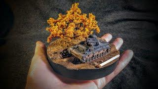 дИОРАМА С ТАНКОМ Pz.Kpwf. IV Ausf. f2 в масштабе 1/100. КАК СДЕЛАТЬ диораму СВОИМИ РУКАМИ?