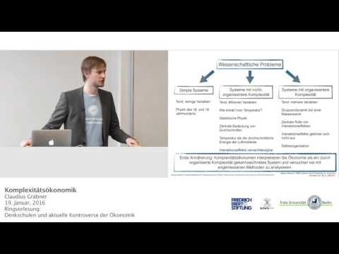 Komplexitätsökonomik - Dr. Claudius Gräbner @FU-Berlin
