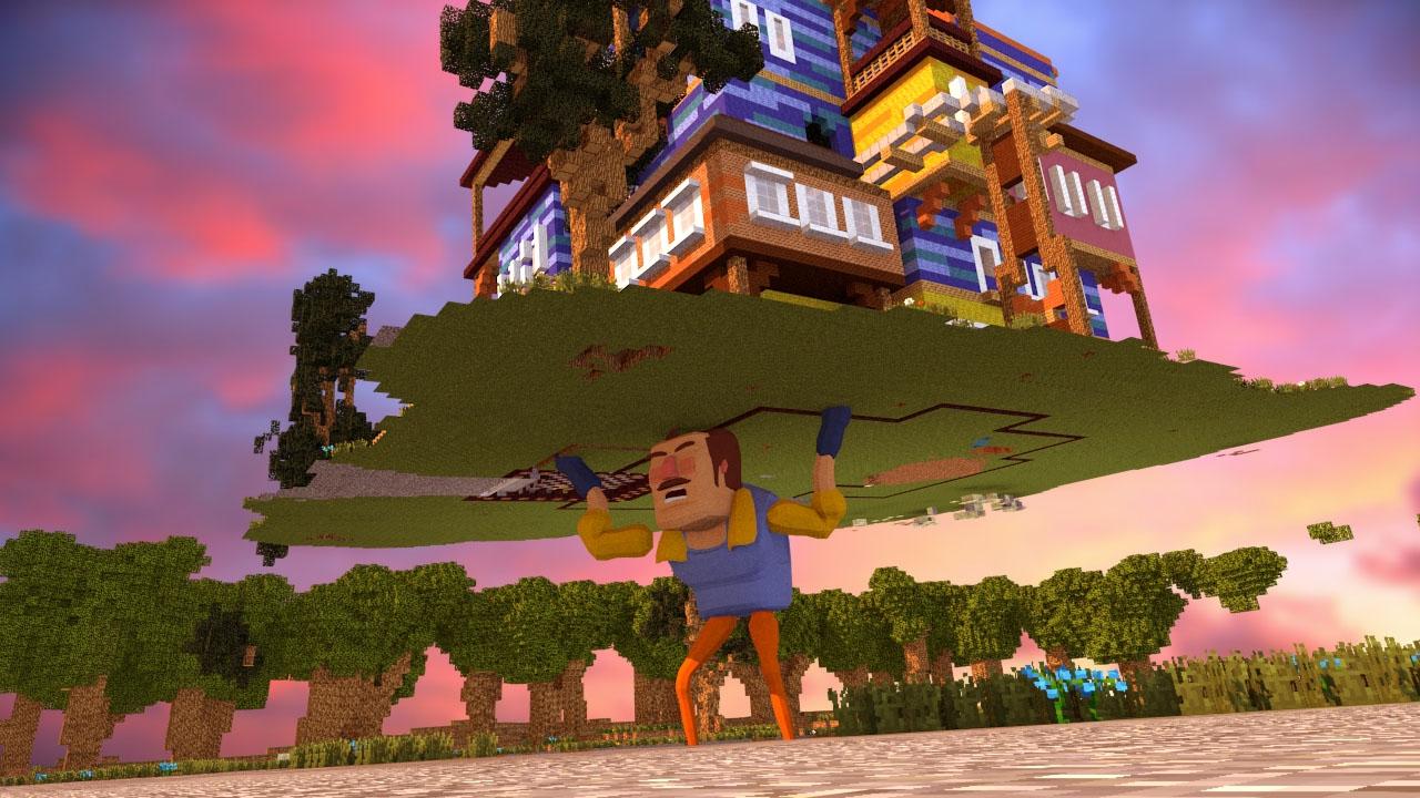 The hello neighbor house - Minecraft Hello Neighbor Stealing The Neighbors House Hello Neighbor In Minecraft