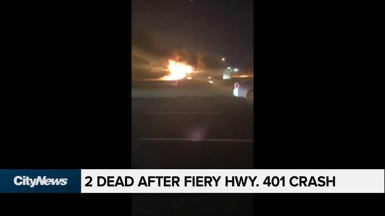 2 dead, 3 injured after fiery crash on Hwy  401 | SuperNewsWorld com