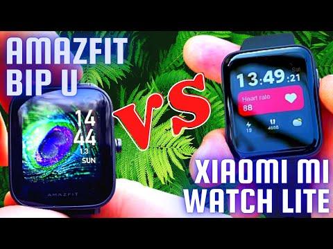 Amazfit Bip U vs Xiaomi Mi Watch Lite Review and Comparison   Huami vs Xiaomi