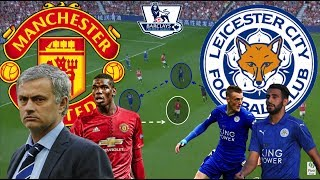 Mourinho breaking down the bus | manchester united-leicester tactical analysis