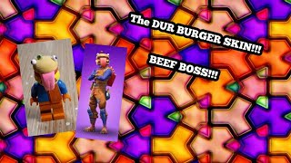 Lego personnalisé Fortnite peau Beef Boss!!! AKA THE DUR BURGER SKIN!!!