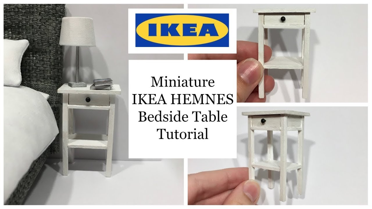 miniature ikea hemnes bedside table tutorial - youtube