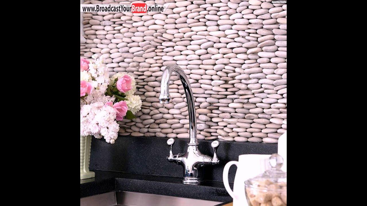 Fliesen Küchenrückwand Kieselsteine Gestapelt YouTube - Verblendung fliesen