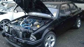 Fastest FORD XR3 260bhp on Castle Combe race track. OddKidd Creations OKC