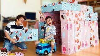 라임의 거대젠가로 집짓기 놀이 | 타요버스타고 창의놀이 | Nersery Rhymes for Kids Song | LimeTube toy review