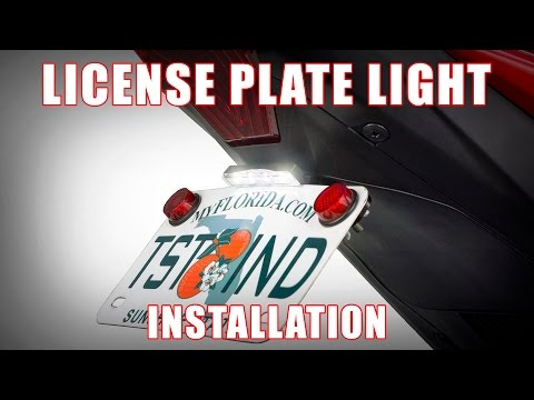 How to install the New STEALTH Universal License Plate Light by TST Industries