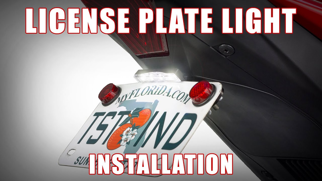 How to install the New STEALTH Universal License Plate Light by TST Industries - YouTube : license plate light wiring - yogabreezes.com
