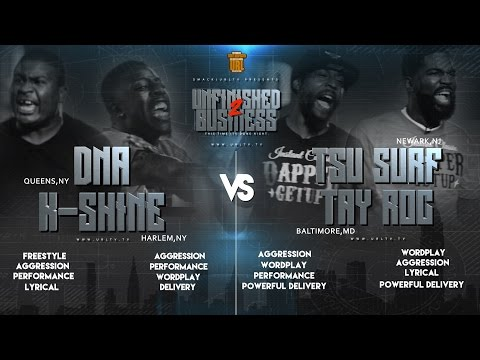 TSU SURF/ TAY ROC VS K SHINE/ DNA SMACK/ PT.2 REMATCH URL RAP BATTLE