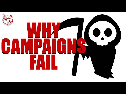 10 Reasons Why Your RPG Campaign Fails