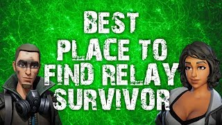 HOW TO FIND 2+ RELAY SURVIVOR IN ONE MISSION QUEST FORTNITE SAVE THE WORLD