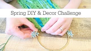 Dollar Tree DIY | Super Simple Spring Wreath | DIY & Decor Challenge