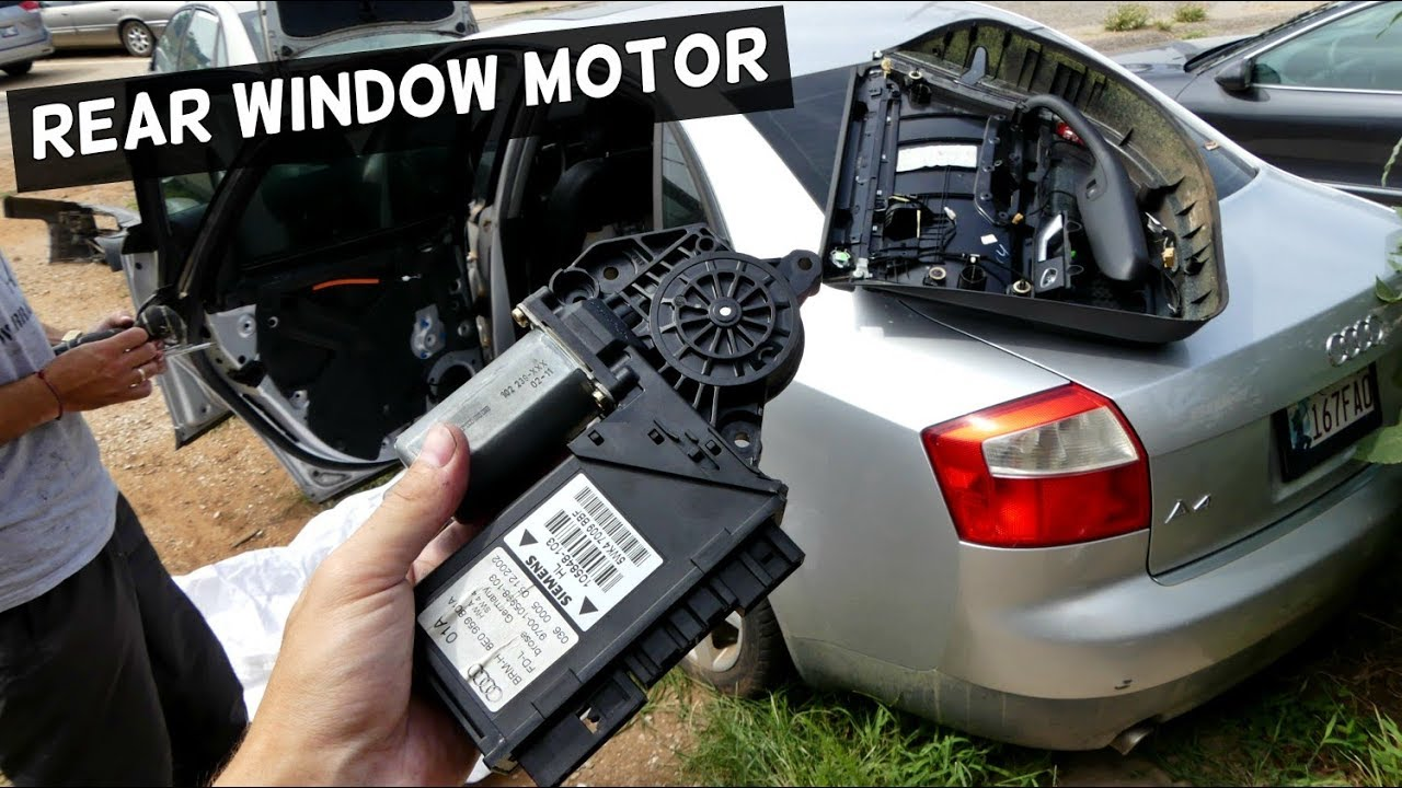 how to remove and replace rear window motor on audi a4 b6. Black Bedroom Furniture Sets. Home Design Ideas