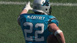 WHY DID HE WALK OFFSIDES??   YOUNG Christian McCaffrey FEASTING! Madden 18 Ultimate Team Gameplay