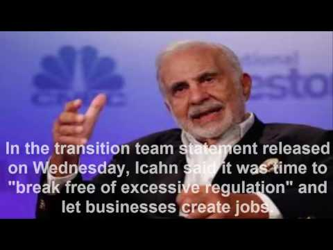 Donald Trump Enlists Carl Icahn as His Special Adviser on Business Regulations
