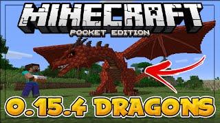 MINECRAFT PE 0.15.4 - DRAGONS IN MCPE 0.15.4?! (Orespawn Mod) - Minecraft PE (Pocket Edition)