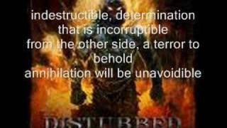 Disturbed Indestructible (w/lyrics)