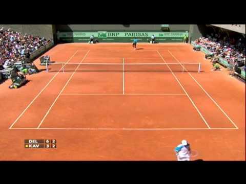 Juan Martín Del Potro vs Blaz Kavcic Roland Garros 2011