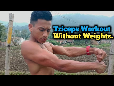 Triceps Workout Without Weights | Bodyweight Triceps Workout | ANISH FITNESS |