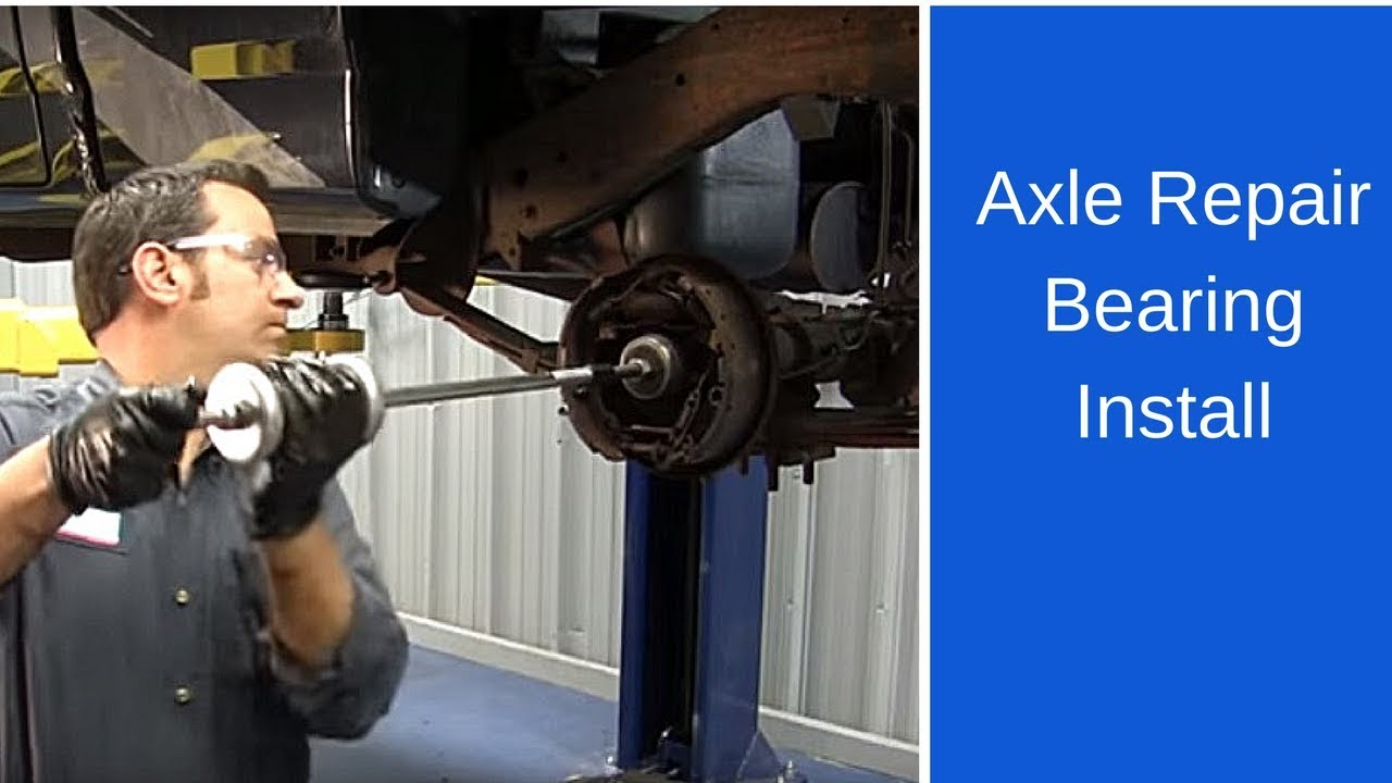 hight resolution of axle repair bearing installation