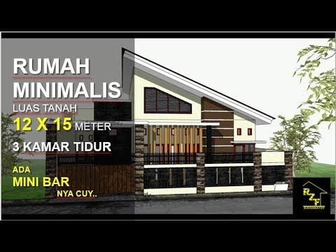 Rumah Minimalis Luas Tanah 12 X 15 Meter Dengan Model Atap Miring Youtube