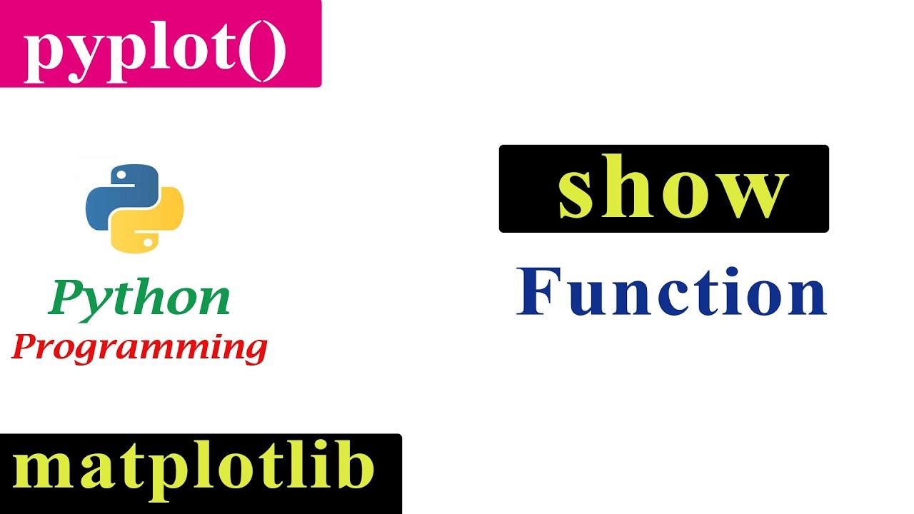 Show Function In Pyplot   Matplotlib   Python Tutorials