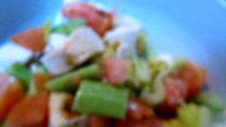 Celery, Tomato, Cucumber And Mozzarella Cheese
