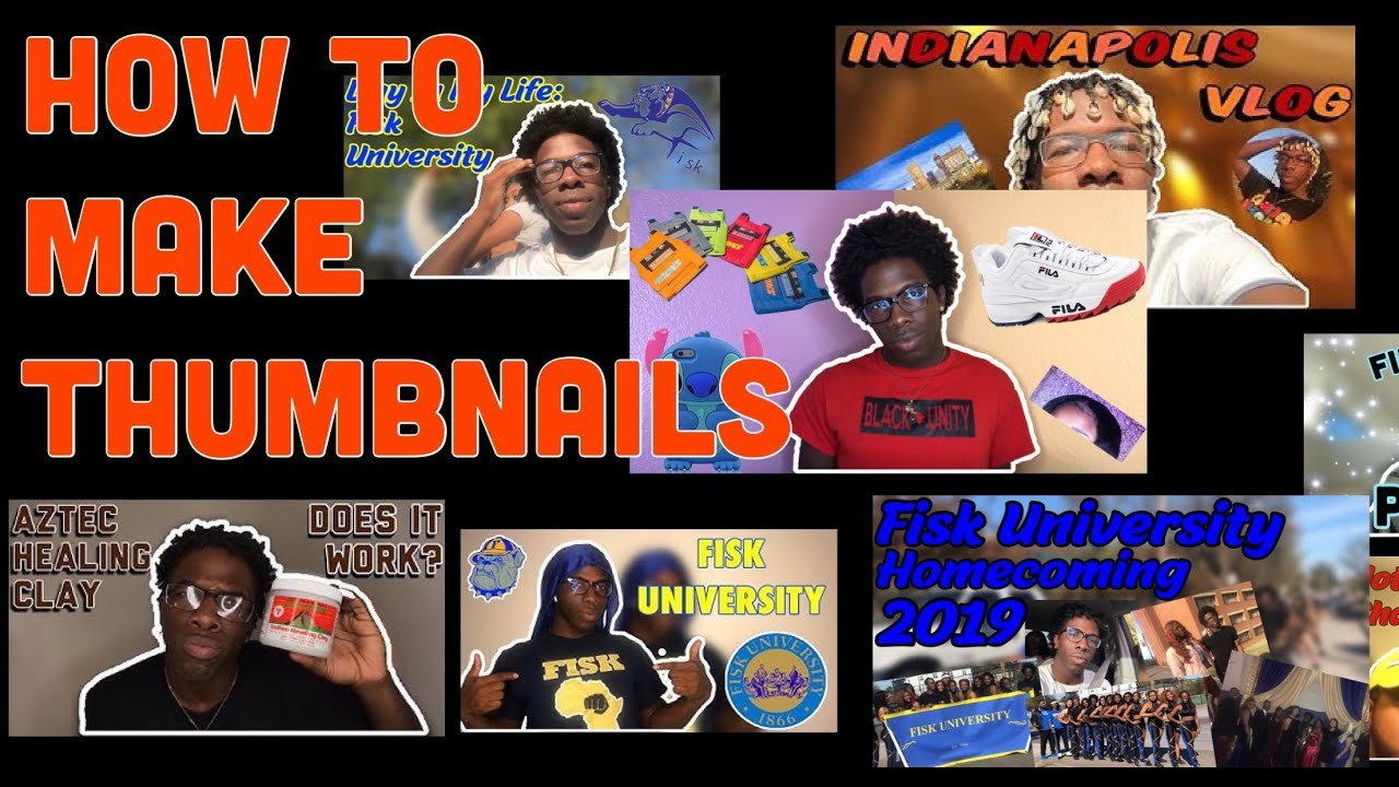 HOW TO MAKE THUMBNAILS ON IPHONE FOR FREE - YouTube
