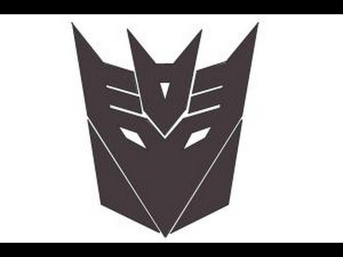 How To Draw Decepticon Logo From Transformers Youtube