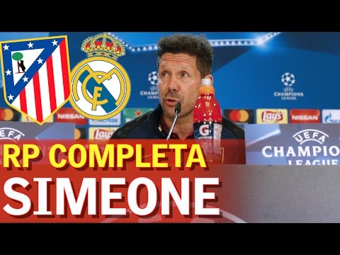 Atlético Madrid - Real Madrid | Rueda de prensa de Simeone previa al derbi europeo | Diario AS