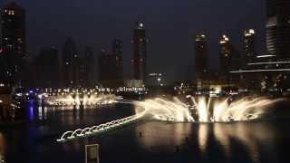 Burj Khalifa Dubai dancing fountain 2014 - O Mio Babbino Caro - Kiri Te Kanawa - Puccini