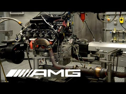 AMG 5.5-Liter V8 Biturbo on Test Bench