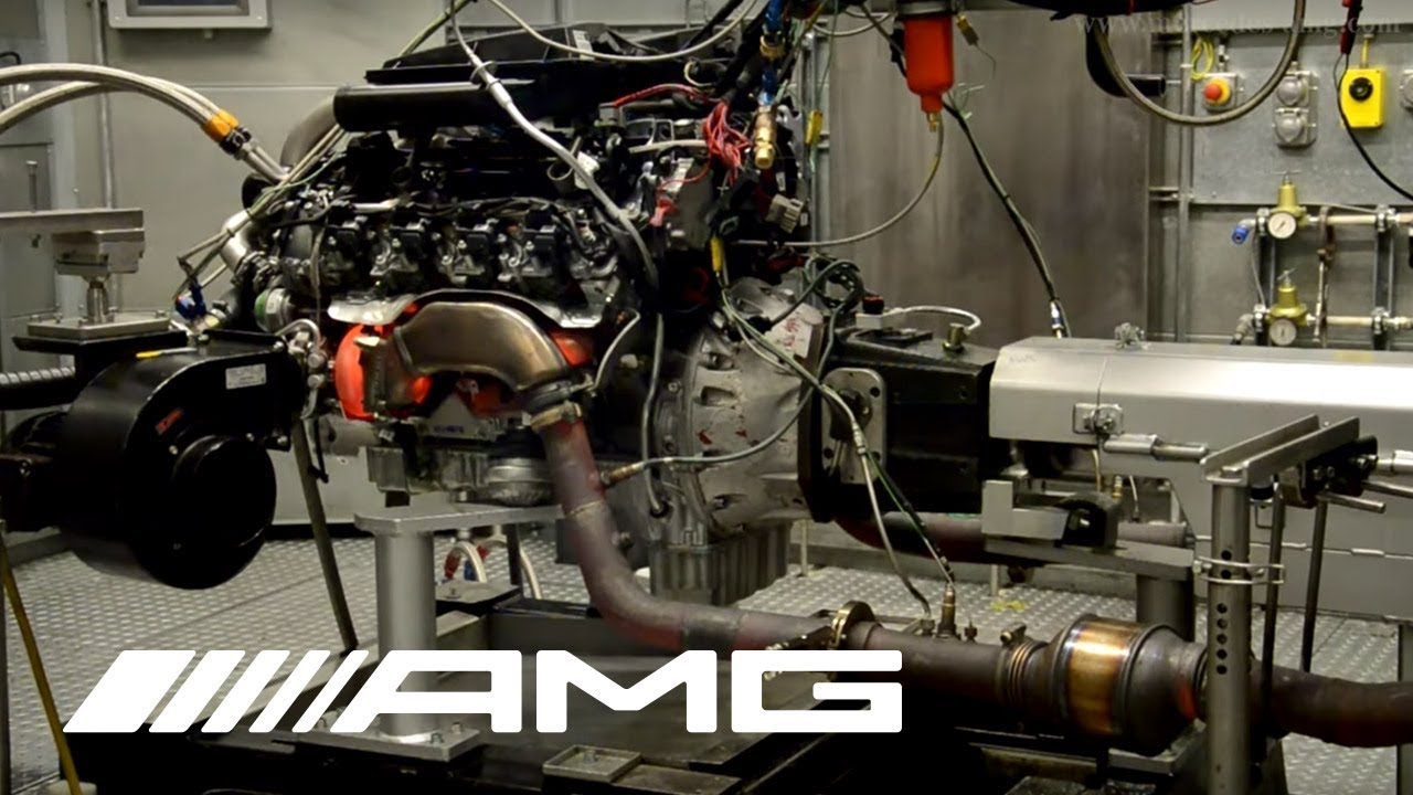 medium resolution of amg 5 5 liter v8 biturbo on test bench